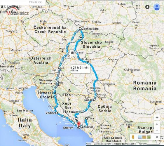 Cesta z m�sta bez map �i GPS
