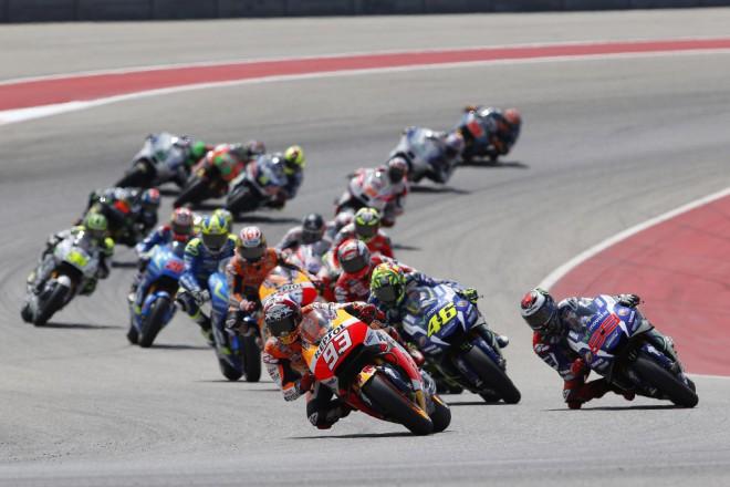 Z�vod v Texasu nedokon�il Rossi, Dovizioso a Pedrosa