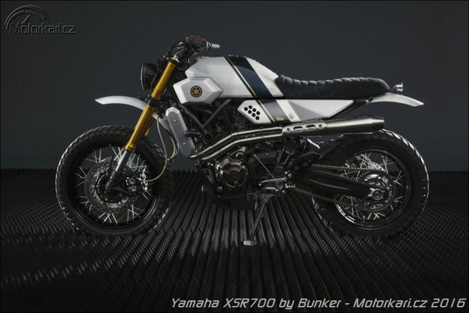 Yamaha XSR700 jako tracker
