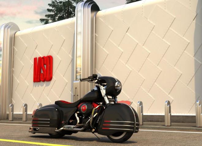 Harley-Davidson ve stylu ruské limuzíny