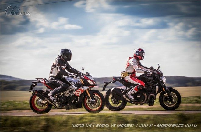 Tuono V4 Factory vs Monster 1200 R: Dog fight bez pravidel