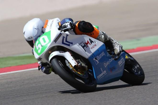 Po zranìní nastoupil Ondøej Vostatek do závodu Moto4 v Aragonii