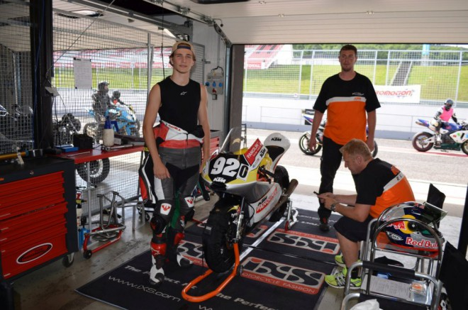 Pøed GP v Brnì absolvoval Hanika pøípravu na mosteckém autodromu