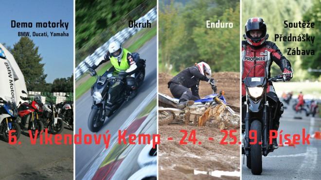 Kemp BNM: Super víkend ve znamení 6 moto disciplín a 20 demo motorek!