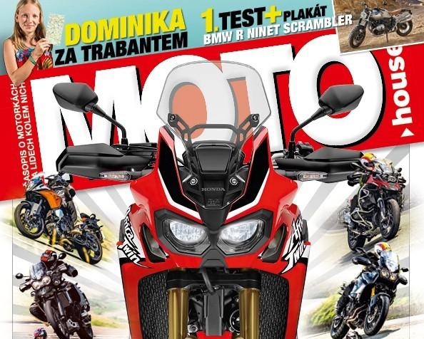 Motohouse 10/2016 s plakátem BMW R nineT Scrambler