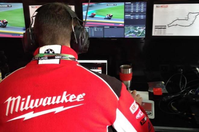 Tovární stroje RSV4 v barvách Milwaukee Aprilia Racing