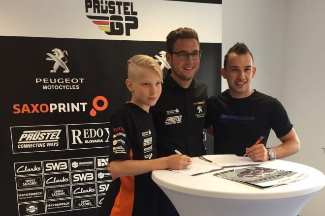 V roce 2017 pokra�uje Kornfeil v Moto3 s Peugeotem