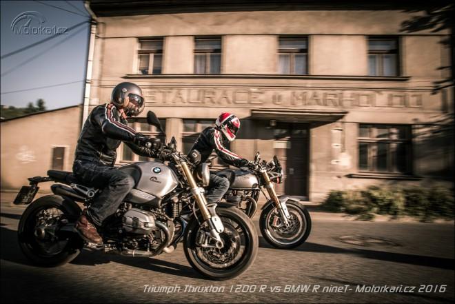 Triumph Thruxton 1200 R vs BMW R nineT: vìrni stylu a vášni