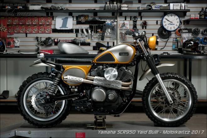 Yamaha SCR950 z projektu Yard Built od Jeff Palhegyi Designs