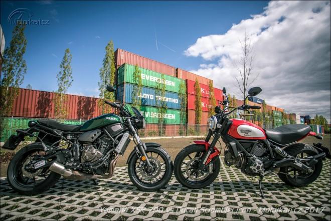 Yamaha XSR700 vs Ducati Scrambler Icon: duel emocí
