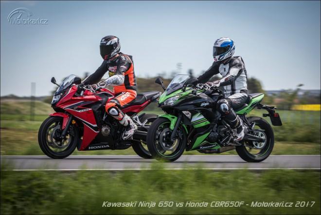 Honda CBR650F vs. Kawasaki Ninja 650