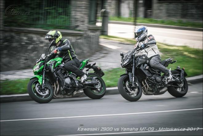 Kawasaki Z900 vs Yamaha MT-09: oldschool proti hi-tech