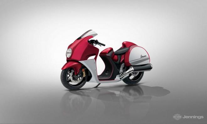 Jak by to mohlo vypadat, kdyby Vespa vyrábìla motorky