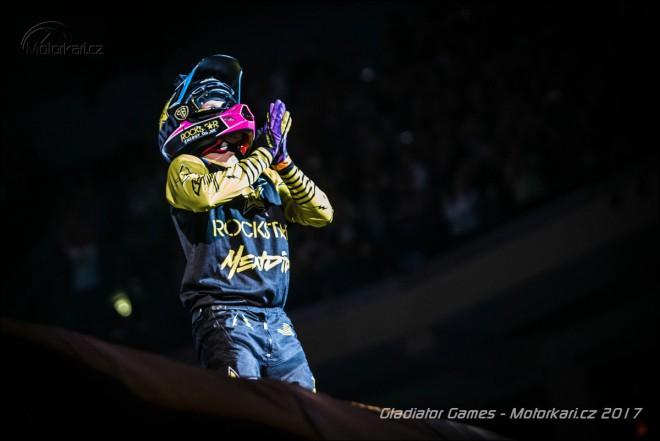 Libor Podmol skoèil na Gladiator Games front flip