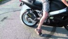 Carbon Suzuki GSX-R 600 srad - Pálení gumy