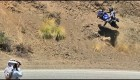 Motorcycle Crashes Into Hillside