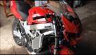 VTR 1000F Honda srážka s traktorem