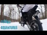 pitbike adventures-winter winter winter!!!!