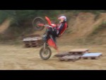 Enduro Svitavy -KTM wheelie fail