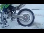 Bikes on snow